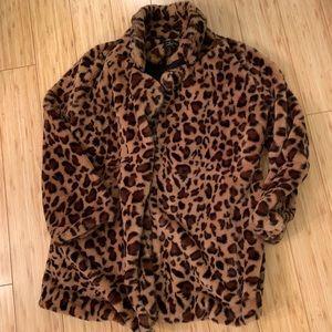 Leopard Plush coat